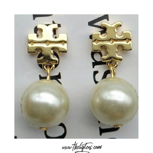 Tory Pearl Ball Earrings
