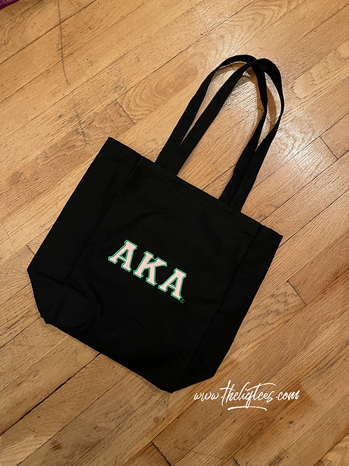 Book Tote (pink letters) - EMBROIDERED