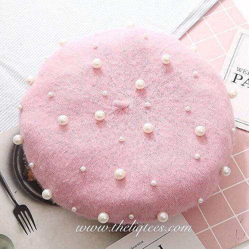 Pink Pearl Beret