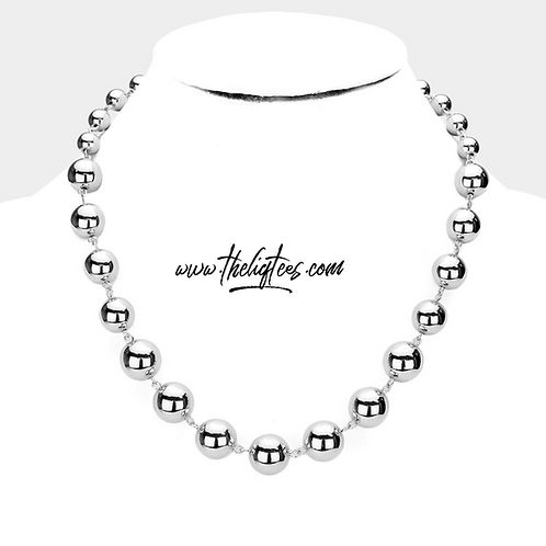 Alternating Silver Bead Necklace
