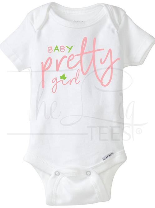 "Baby ""Pretty Girl"" Onesie"