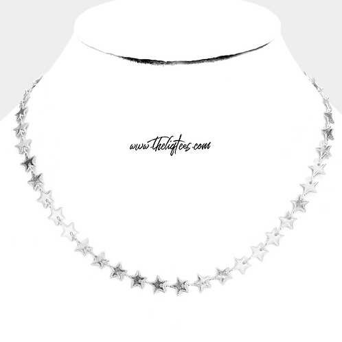 Silver Star On Fleek Necklace