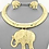 Thumbnail: Golden Elephant Necklace Set