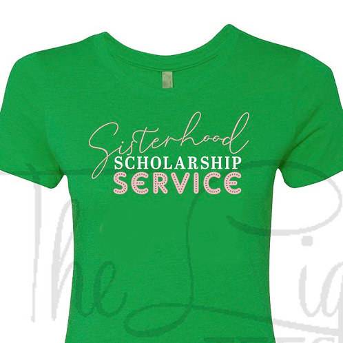 SIsterhood•Scholarship•Service