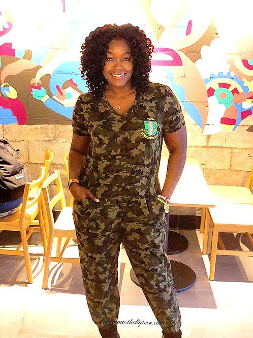 Michelle Camouflage Jumpsuit
