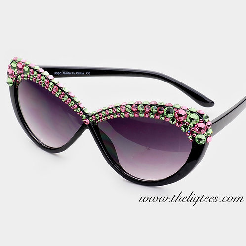 Cateye Remixed Bling Sunglasses