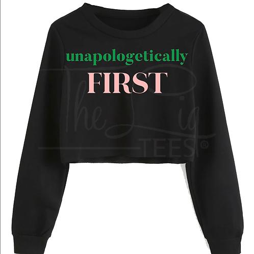 Unapologetically FIRST Crop Sweatshirt