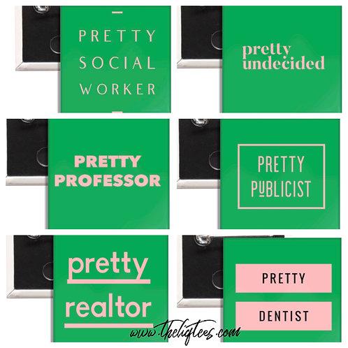 Pretty Profession Buttons