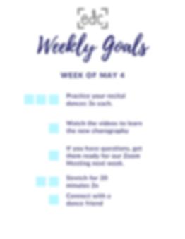 Copy of Weekly Goals April 20- Kindergar