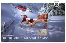 Skoda Yeti Weihnachtsanzeige