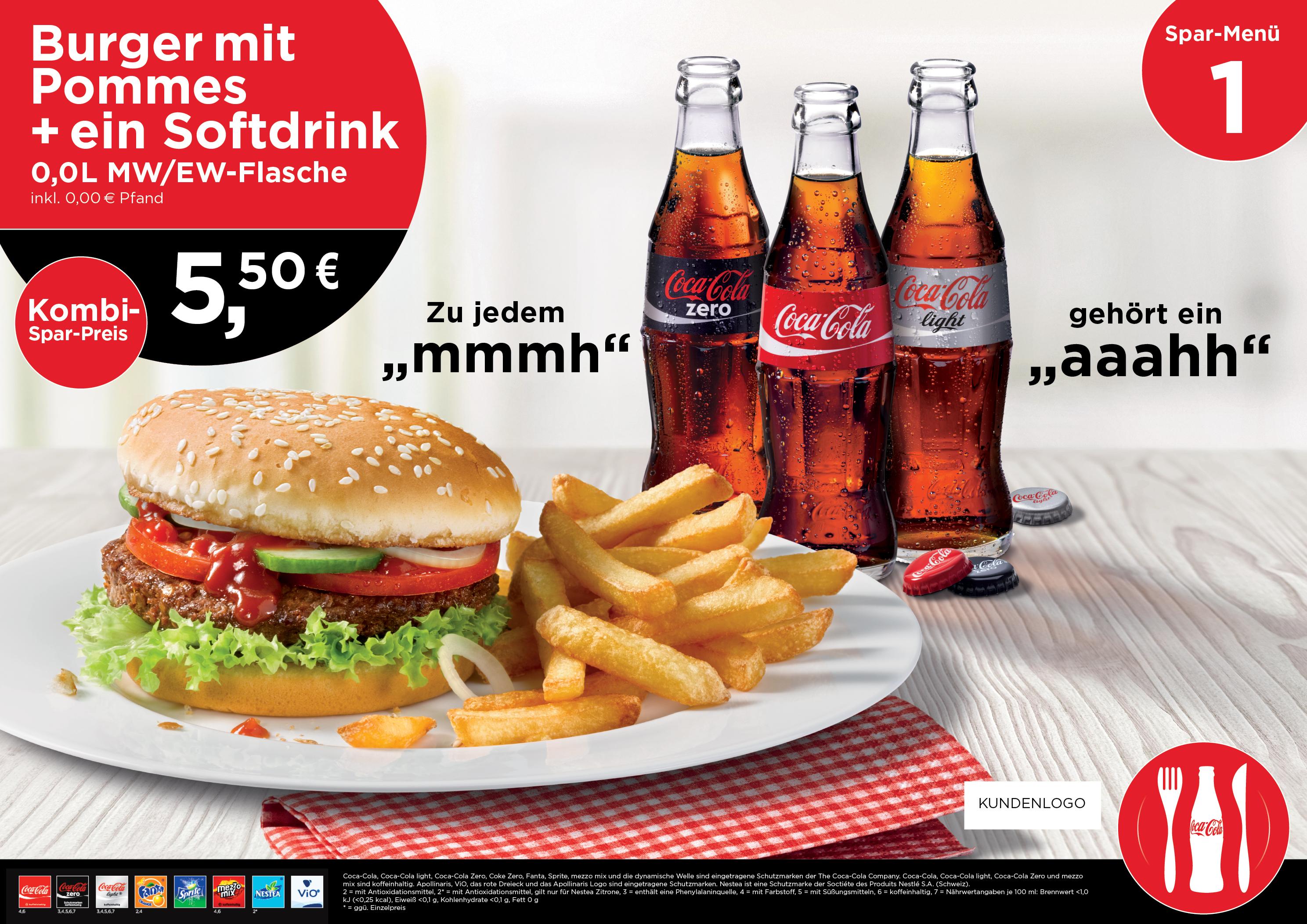 Menüboards Coca Cola