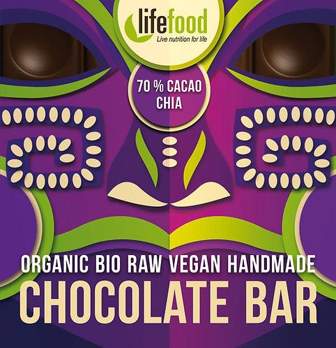 Organska Sirova Čokolada 70% kakao&čia 35g