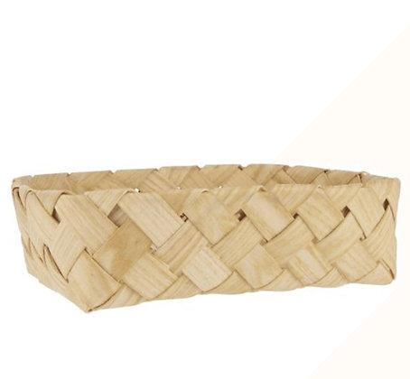 Corbeille en bois recyclé