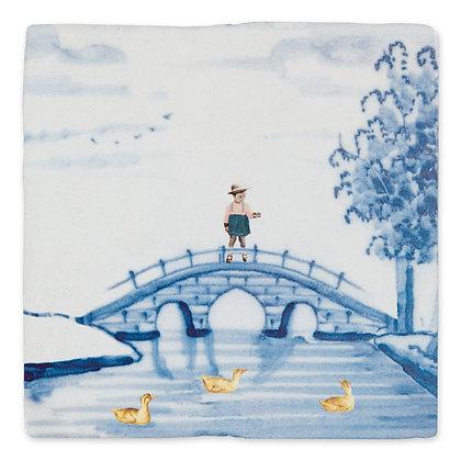 Carreaux de céramique - Feed the ducks