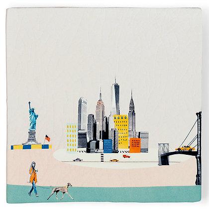 "Carreau de céramique ""awakening New York"""