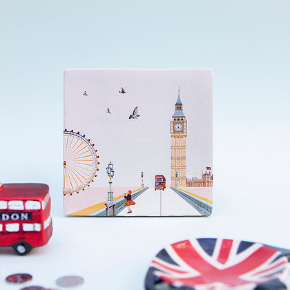 "Carreau de céramique ""Eye on London"""