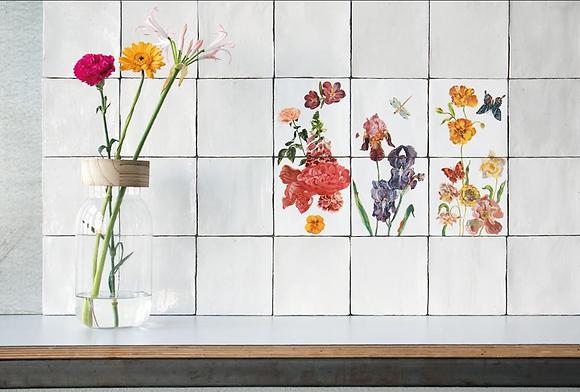 """Carreaux de céramique """"Wild Flowers"""" Nathalie Lété"""