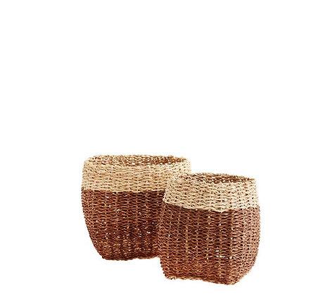 Panier corde et bambou