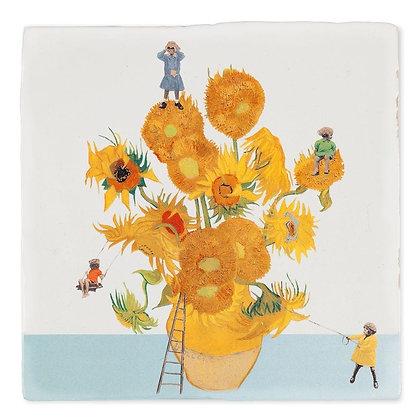 "Carreau de céramique ""The sunflower expedtion"""