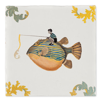 "Carreau de céramique ""Catch of the day"""