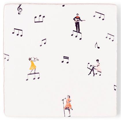 "Carreau de céramique ""Theres music in the air"""