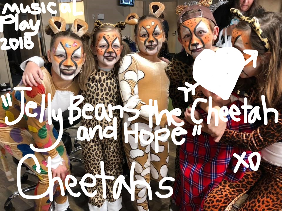 CheetahMusicalPlayWhiteLettering