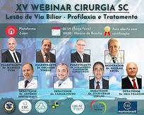 XV Webinar Cirurgia SC: Lesão de Via Biliar - Profilaxia e Tratamento