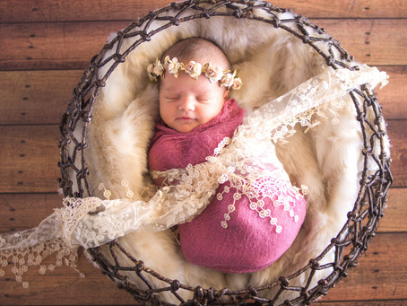 Giveaway Winner Orange County Newborn Photography | Baby Aubrey