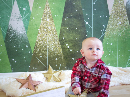 Orange CA Christmas Portrait Session | Brody's 1st Christmas