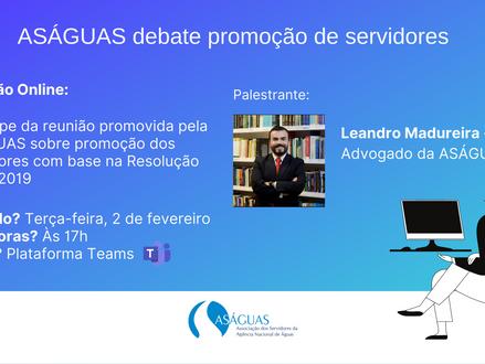 ASÁGUAS debate promoção de servidores