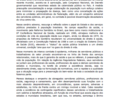 Nota Pública COVID-19
