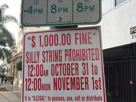 No Halloween Silly String in Hollywood