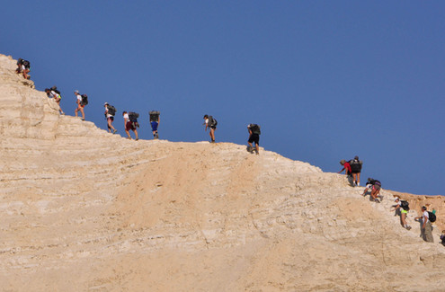 Hiking up the Negev