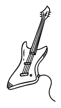 Drawing of an electric guitar