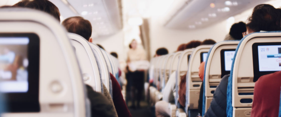 People sitting on a airplane