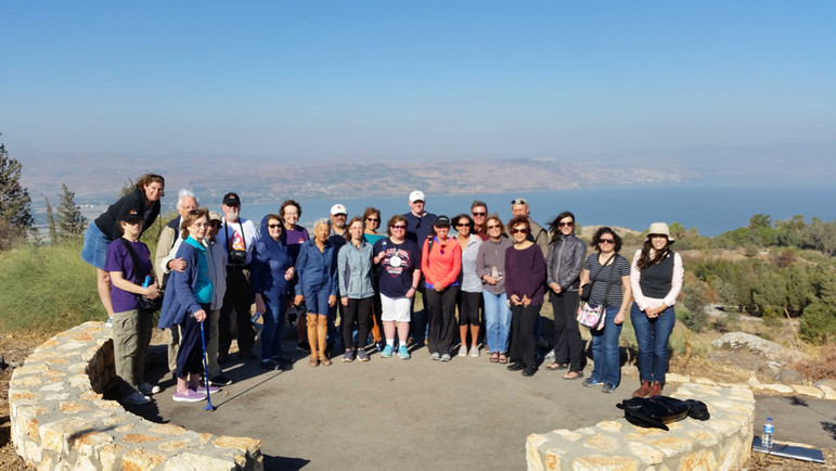 Cheese! - over the Kinneret (Sea of Galilee)