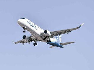 Airplane flying to Alaska