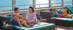 Man and woman relaxing on a cruise
