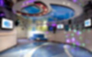 Circle C teen room on board Carnival