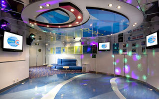 Circle C teen room on board Carnival