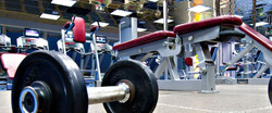 Weights sitting on the ground