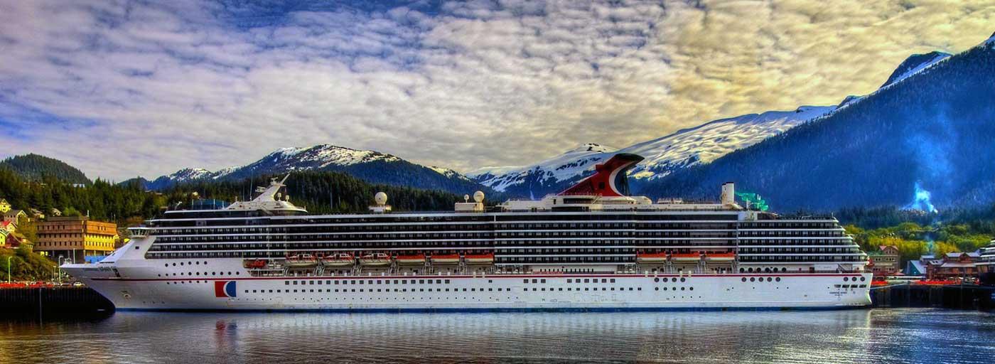 Carnival cruise ship in Alaska