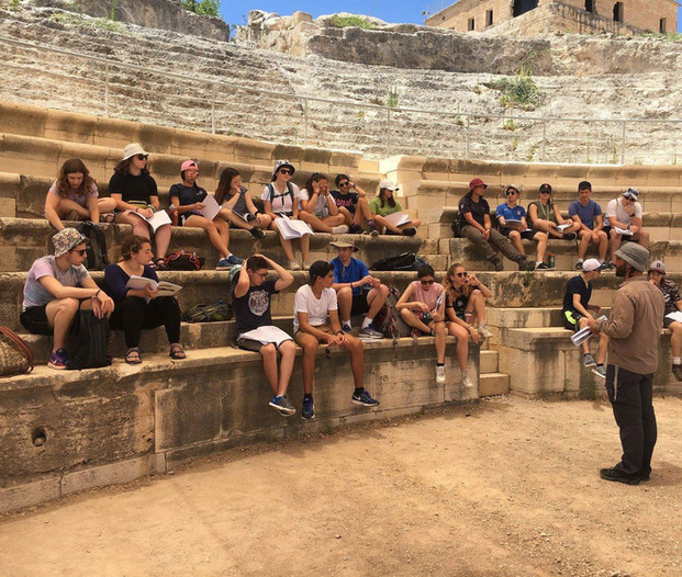 Studying in the Zippori amphitheater