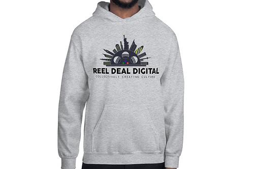 Reel Deal Digital Logo Grey Hoodie