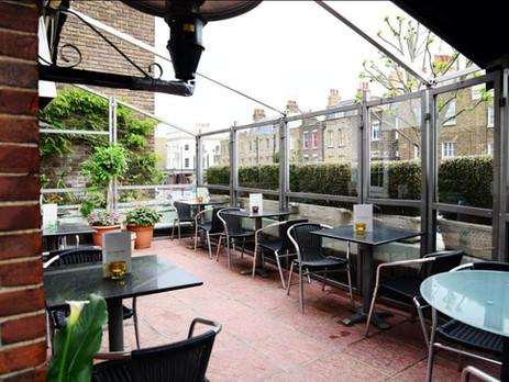 Unique Terrace bar in King Cross