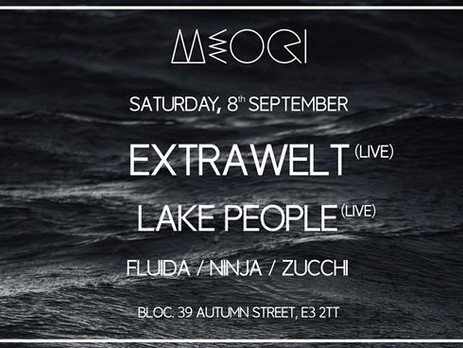 MEOQI presents Extrawelt live & Lake People live
