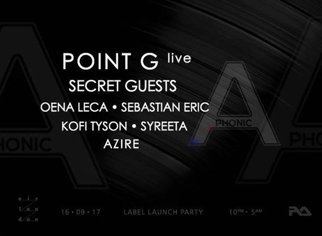 Aphonic Music Label Launch w/ Point G - Live