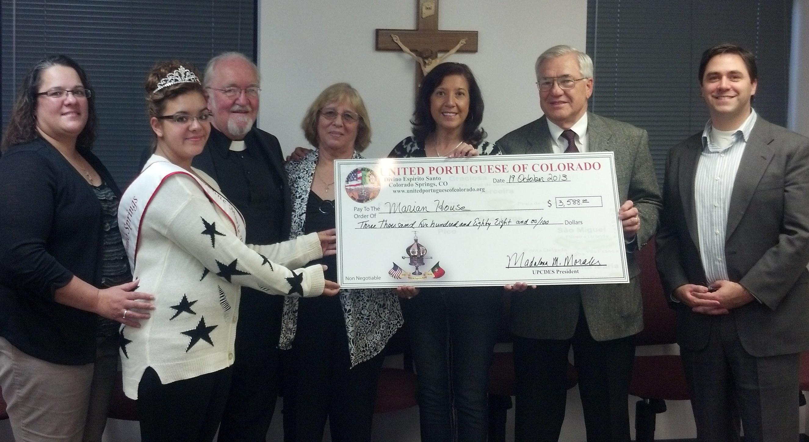 Marian House Donation