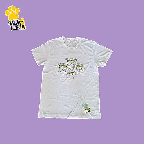 Camiseta Gafas Blanca - Mujer, Hombre y Niños/as
