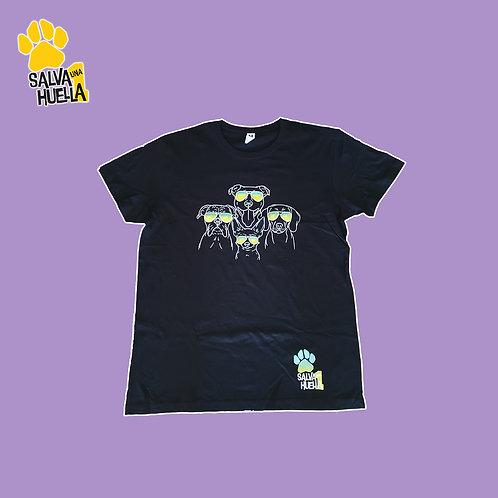 Camiseta Gafas Negra - Mujer, Hombre y Niños/as